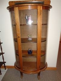 Bow Front China Cabinet  1 of 2