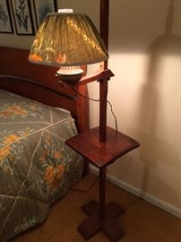 maple floor lamp