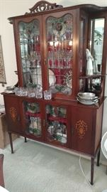 Vintage Stained Glass Curio
