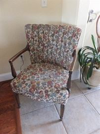 Ladies chair with hand coiled springs