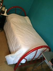 #8 Red twin bed $75
