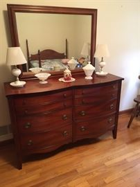 4 pc Antique Full size bedroom set, solid wood, great condition.