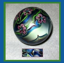 Stunning Orient and Flume Signed Paperweight