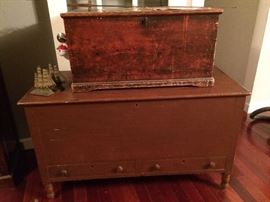 Two period blanket chests