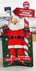 Vintage Coca-Cola Santa Display, Life-size