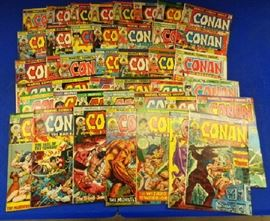 """1970s Marvel Comics- """"Conan the Barbarian"""" Issues 25-36 (two 27s), 38-67, 97-129"""