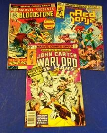 """1970s Marvel Comics- """"Bloodstone"""", """"Red Sonja"""" """"John Carter, Warlord of Mars"""" All issue #2"""