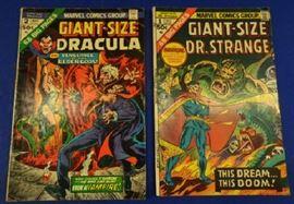 "1970s Marvel Comics- ""Giant-Size Dracula"" Issue #2, ""Giant-Size Dr. Strange"" Issue #1"