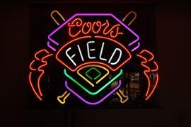 Coors Field neon bar light