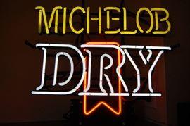 Michelob Dry neon bar light