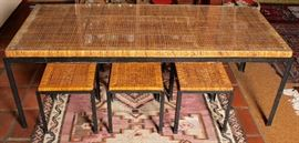 Danny Ho Fong dining table & 6 stools