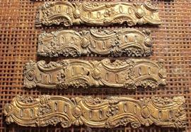Embossed brass decorative pieces