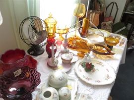 Limoges and carnival glass