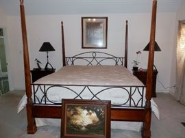 Four Poster Bed, matching nightstands, dresser, hutch & showcase available