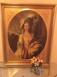 Vintage framed portrait