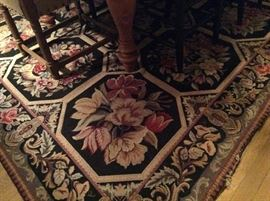Needle point floral 8x10 rug