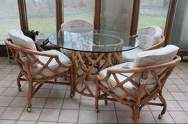 Ficks Reed Vintage Rattan dining set