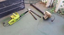 This does no justice to the amount of electric tools we have for both gardening and woodworking