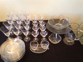 Fostoria crystal. Additional pieces not pictured here.