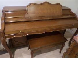 Baldwin Piano with Matching Bench  $ 450
