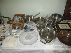POTS AND PANS AND GLASSWARE