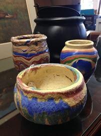 Arkansas Pottery - wonderful colors