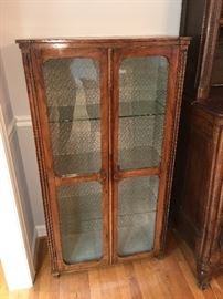 Antique French two door vitrine cabinet Louis XVI manner - mid 19th century
