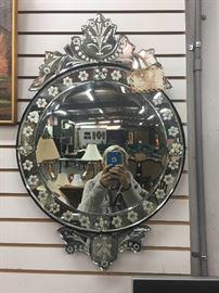 Venetian hand-cut mirror