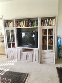 bookcase and entertainment center (each piece priced separately)