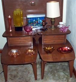 End tables, carnival glass, etc...