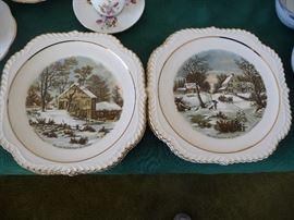 WINTER SCENES-DECORATIVE PLATES