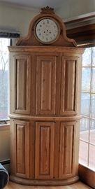 Swedish pine clock cabinet.