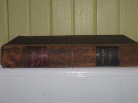 Antique leather bound book ( Portland Pleasure Boat)