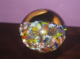 HUGE Blown glass paperweight
