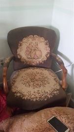 Needle point Chair Antique