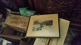12 Framed Lionel Barrymore Paintings