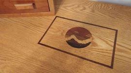 Inlaid wood design detail