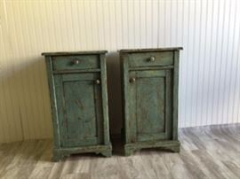 Green Painted Bedside Tables  $425 for the pair  25% off: $319