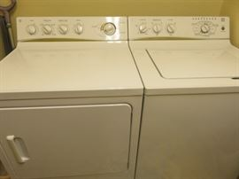 General Electric washer and dryer.