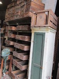 Fruit Farm Wood Shelf Bins