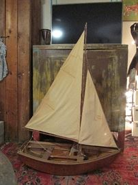 "Lake Erie Sharpie Fishing Sail Boat 1/2"" to 1' scale"