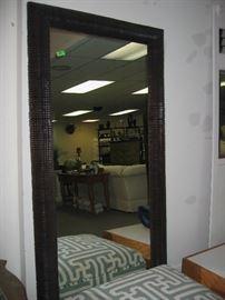 Large mirror, ottoman