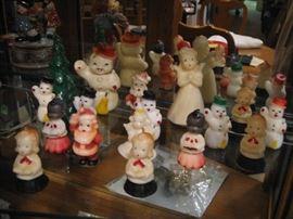 Candles of children, snow men, trees