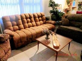 LIKE-NEW couch, loveseat and 2 matching recliners