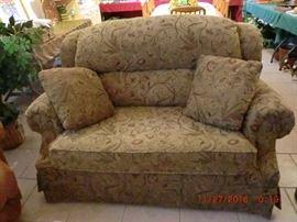 LANE twin size sleeper love seat