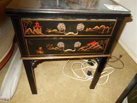 hand painted end table(s)