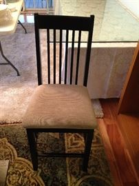 Black Upholstered Seat Pub Chair - Detail