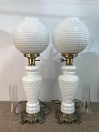 Hobnail lamps