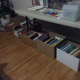 School books, encyclopedias, story books, novels, teen fiction, children's books