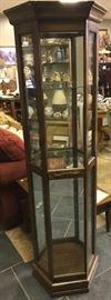Cute curio cabinet with light.